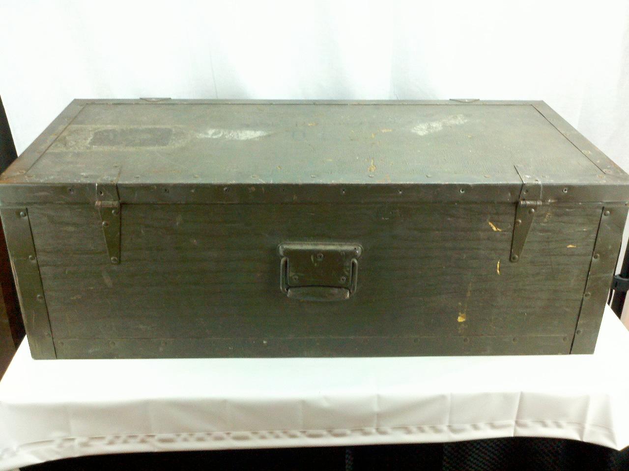 Vintage us army foot locker trunk storage box ebay - Footlockers storage ...