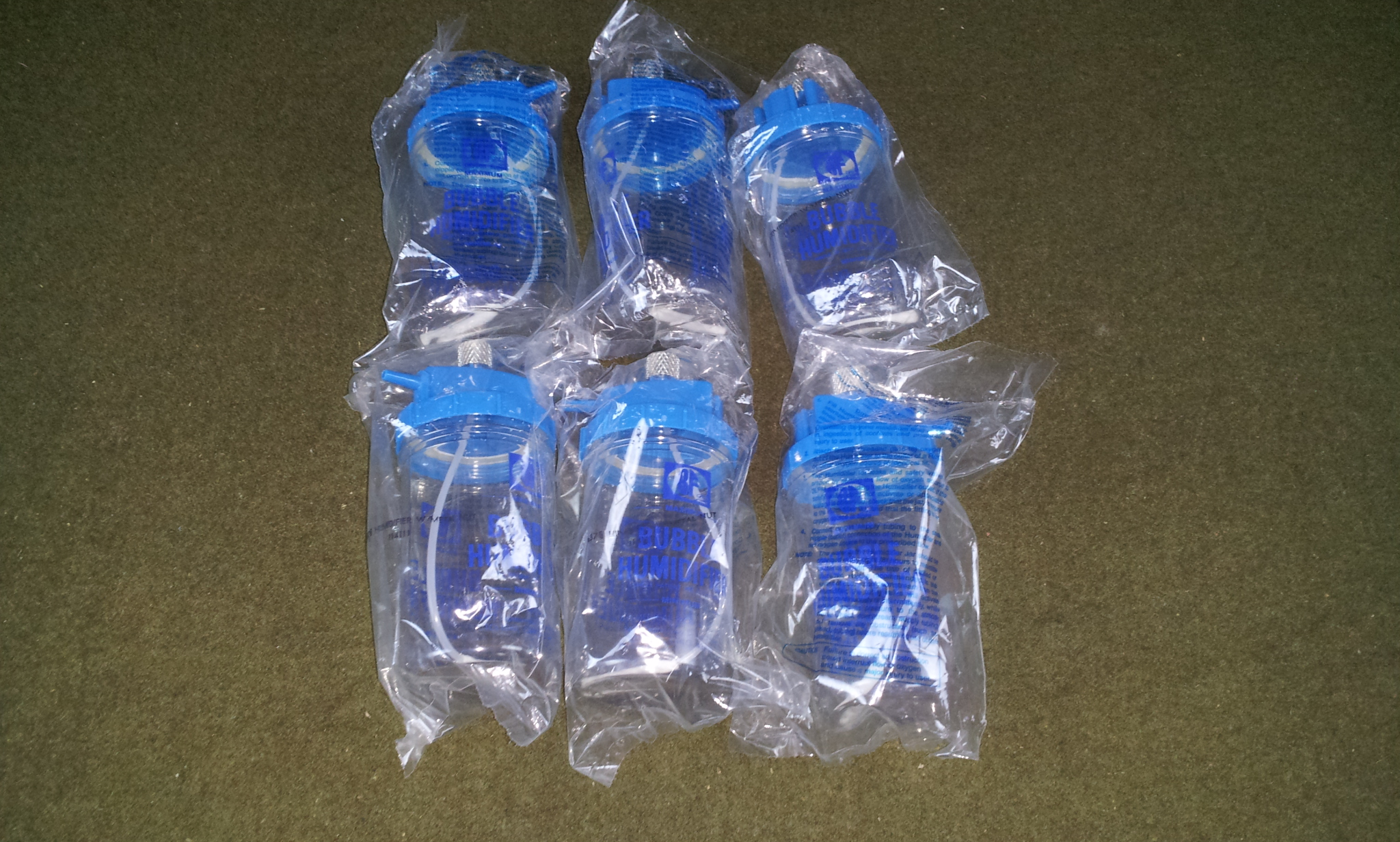 Six 6 B F Medical Products Inc Oxygen Bubble Humidifier Bottles eBay #2643A5